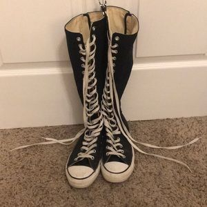 Knee High Converse All Stars Zip Up Size 10